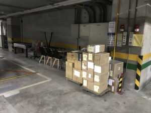 台北醫學大學庫房整理文件資料搬運