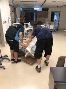 台北市搬家案例.台北醫學大學大安校區同棟搬運及部分搬運回北醫1