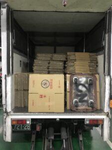 北醫庫房整理紙箱與移動上架定位